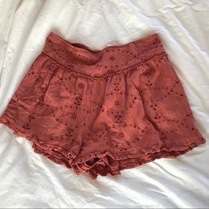 American Eagle lined eyelet shorts